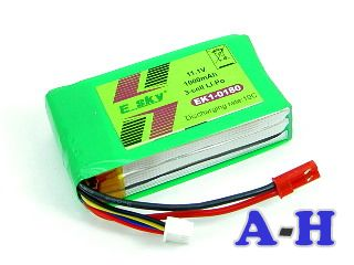 EK1-0180 1000mAh 3S LiPo battery